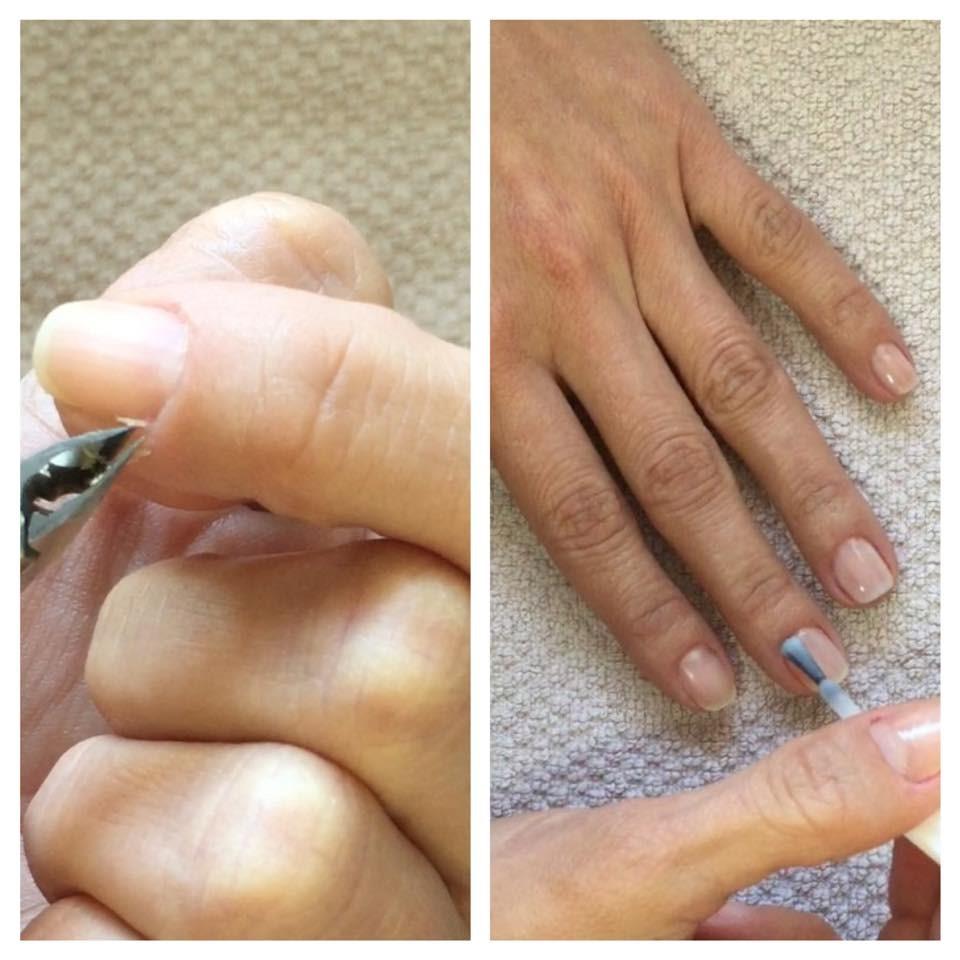 Eliminación de cutículas y esmaltado