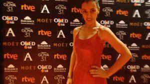 Luz Juanes en los Goyas 2017 asesorada por rogelaine imagen