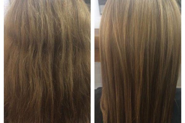 cabello con tratamiento keratina madrid