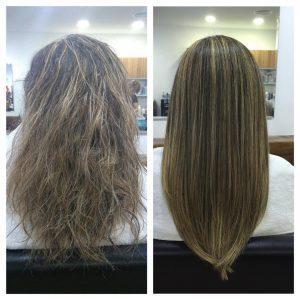 peluquería alisado keratina