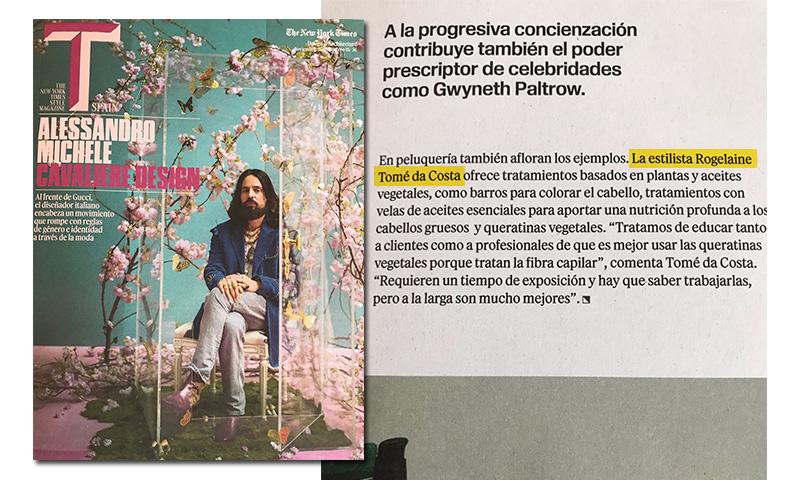 Mención en la revista del T-MAGAZINE del New York Time.